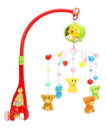 Music Cot Mobile Teddy Dangles - Muti Color