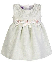 Cupcake Celebrations Sleeveless Party Dress With Bow Applique - Mint Green