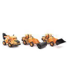 Construction Toy Trucks Set Of 3 - Yellow