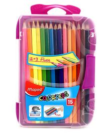 Maped Colour Pencils With Smart Box 15 Shades - Purple
