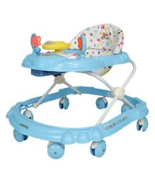 Sunbaby Walker With Play Tray Aqua Blue - SB-3112