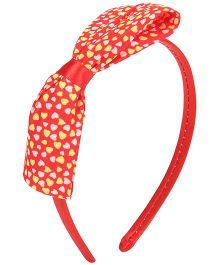 Stol'n Hairband With Heart Bow - Red