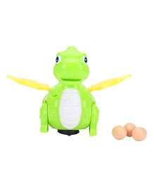 Dinosaur With Eggs - Green