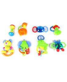 Infant Animal Rattle Set of 8 - Multi color