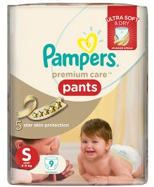 Pampers Premium Care Pant Style Diapers Small - 9 Pieces