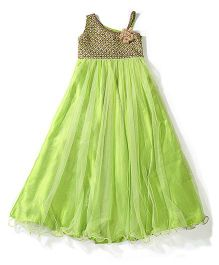 Twisha Indo Western Gown - Green