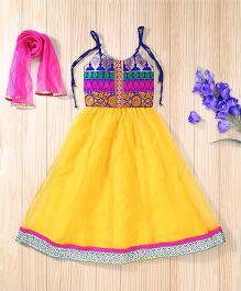 Twisha Ghagra Choli & Dupatta Set - Yellow
