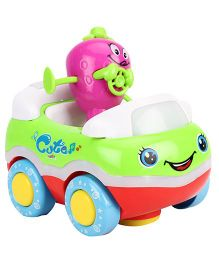 Toy Car With Cartoon Character Set - Blue