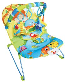 Luv Lap Baby Bouncer Fish Print Multi Colour - 18168