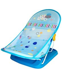 Luv Lap Baby Bather Hippo Dippo Print Blue - 18170