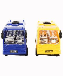 Toy Bus Set Of 2 - Yellow Blue