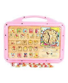 Funworld 3 in 1 Puzzle Slate - Pink