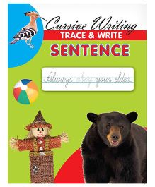 Cursive Writing Trace & Write Sentence - English