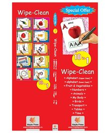 Activity Books Wipe And Clean Set of 10 - English