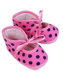 Morisons Baby Dreams Baby Booties Polka Dots