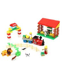 Animal Farm Construction Blocks Multicolor  -64 Pieces