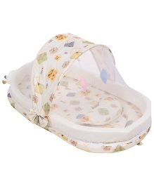Mee Mee Mattress Set With Mosquito Net Floral Print MM-33093 - Cream