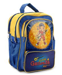 Pep India Little Ganesha School Bag Blue & Yellow - 16 Inch