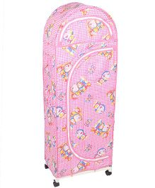 New Natraj Jumbo Toy Box With Wheels Doraemon Print - Pink