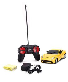 Remote Control Car With Charger - Yellow