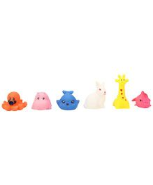 Squeezy Animal Baby Bath Toys Pack Of 6 (Color May Vary)