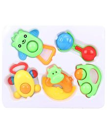 Baby Rattle Set Of 5 - Multi color