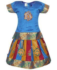 Babyhug Half Sleeves Pavadai Set - Blue