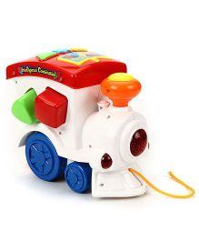 Pull Along Toy Train Engine - White