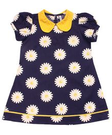 Campana Crazy Daisy Dress - Navy Yellow