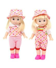 Baby Doll In Western Attire Set of 2 - Pink
