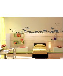 WallDesign Animals Parade Wall Sticker - Grey