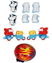 Skating Protective Set Pack Of 4 - Blue Red