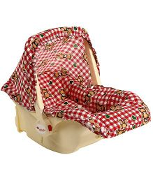 Infanto Babylove Carry Cot Cum Rocker Checks Print Red - 045A
