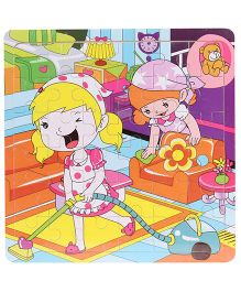 Jigsaw Puzzle Home Cleaning Print Multicolour - 36 Pieces