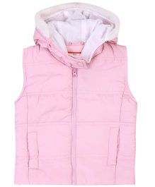 Baby League Sleeveless Hooded Jacket - Light Pink
