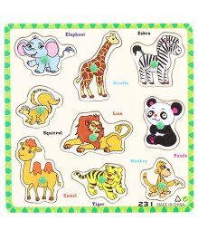 Wild Animals Puzzle Set - 9 Pieces