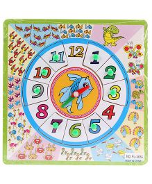 Watch Number Puzzle Multi Color - 9 Pieces