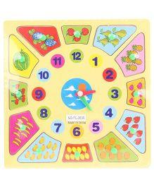 Watch Number Puzzle Multi Color - 12 Pieces