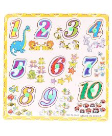 Number Puzzles Multi Color - 10 Pieces
