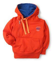 New York Polo Academy Hoodie Sweatshirt - Orange