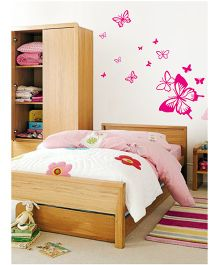 WallDesign Butterfly Away 13 Wall Stickers - Pink