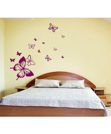 WallDesign Butterfly Away 13 Wall Sticker - Violet