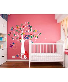 WallDesign My Fairy Tree White Trunk Wall Sticker