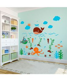 WallDesign Deep Sea Life Wall Sticker - Multicolor