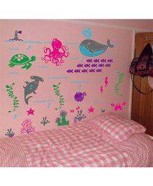WallDesign Underwater Colours Wall Sticker - Multicolor