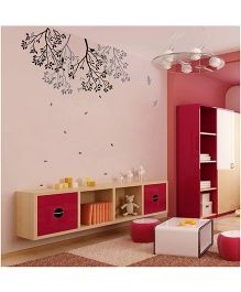 WallDesign Roof-Drop Branch Black And Grey Wall Sticker
