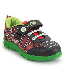 Footfun Casual Shoes With Velcro Closure - Green Red