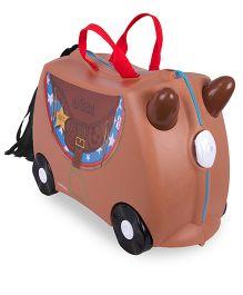 Trunki Ride On Suitcase Bronco - Brown