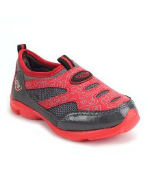 Footfun Slip On Style Casual Shoes - Red