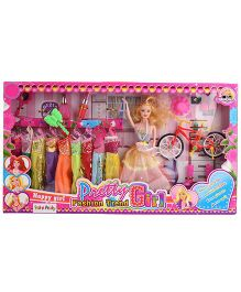Doll And Accessories Set - Height 28 cm